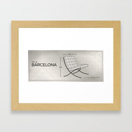 Chairs - A tribute to seats: I'm a Barcelona (intro) Framed Art Print