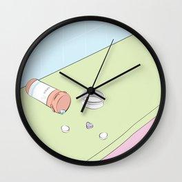 Heart Ache Pills Wall Clock