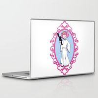 princess bubblegum Laptop & iPad Skins featuring Princess Bubblegum/Leia by createASAP