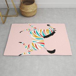 Rainbow zebra Rug