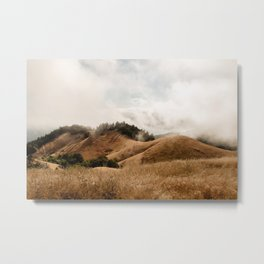 Mount Tamalpais in Fog Metal Print