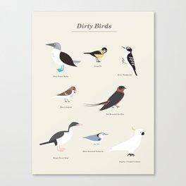 Dirty Birds Canvas Print