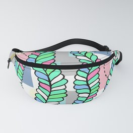 Vines Swaying in the Breeze with Pastel Blocks Fanny Pack