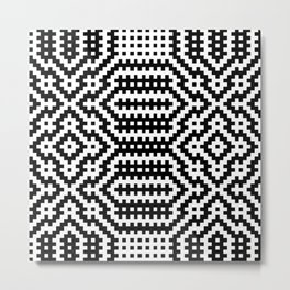 Woven Fabric Illusion On Printed Fabric Metal Print