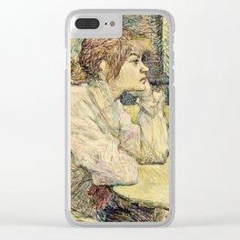 Henri De Toulouse Lautrec - The Hangover Clear iPhone Case