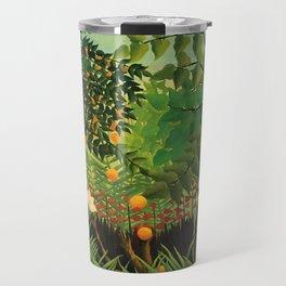 """Henri Rousseau """"Monkeys in the jungle - Exotic landscape"""" Travel Mug"""