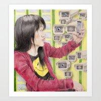 Eye See U Art Print