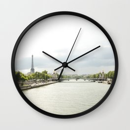 Paris River Seine Wall Clock