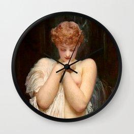 "Frederic Leighton ""Crenaia, the Nymph of the Dargle"" Wall Clock"