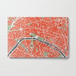 Paris city map classic Metal Print