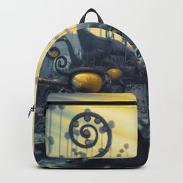 Yellow Eggs in Pistachio Forest Backpack