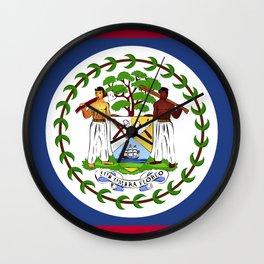 Belize flag emblem Wall Clock