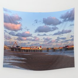 Blackpool Central Pier Sunset Wall Tapestry
