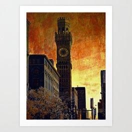 Bromo Setlzer Tower at dawn Art Print