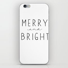Merry and Bright iPhone Skin