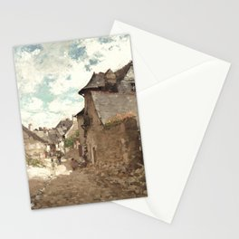 Nicolae Grigorescu - Street in Vitre Stationery Cards