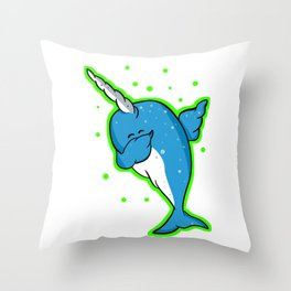 Narwhale Dabbing Throw Pillow