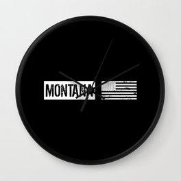 US Flag: Montana Wall Clock