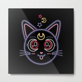 Neon Luna Metal Print