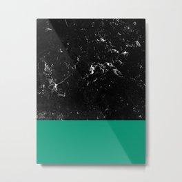 Emerald Meets Black Marble #1 #decor #art #society6 Metal Print