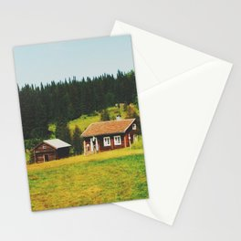 Cabin in the north of Sweden Stationery Cards