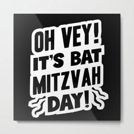 Jew Jewish Bat Mitzvah Metal Print