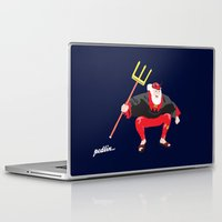 tour de france Laptop & iPad Skins featuring Tour Devil by Pedlin