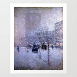 Childe Hassam Late Afternoon, New York, Winter Art Print
