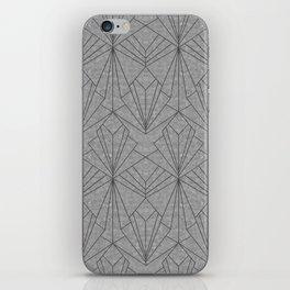 Art Deco in Black & Grey iPhone Skin