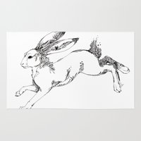 hare Area & Throw Rugs featuring Hare by FireofAnubis