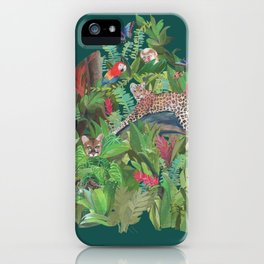 Into the Wild Emerald Forest iPhone Case
