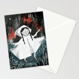 Red Shoes on Curtain Day Stationery Cards