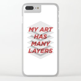 Art Snob Clear iPhone Case