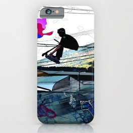 Let's Scoot! - Stunt Scooter at Skate Park iPhone Case