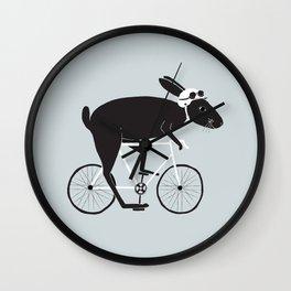 Rabbit Cyclist Wall Clock