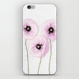 Delicate Poppies iPhone Skin
