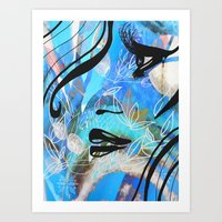 Facing a feeling  Art Print