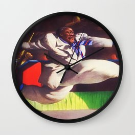 One Night at the Apollo Theater with Big Joe Turner African American Masterpiece by Robert Riggs Wall Clock