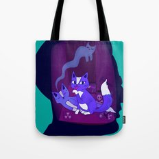 schrodinger's cat Tote Bag