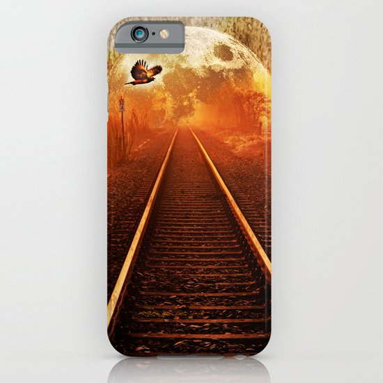 Railway to the moon iPhone & iPod Case