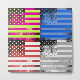 American Flag Pop Art Metal Print