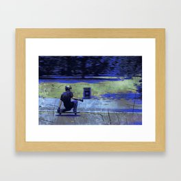 Just Cruisin'  - Skateboarder Framed Art Print
