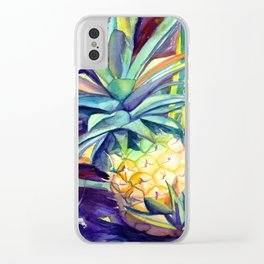 Kauai Pineapple 4 Clear iPhone Case