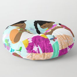 Under the Forest Trees Floor Pillow