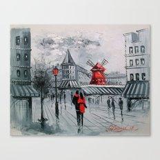 Romance in Paris Canvas Print