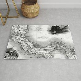 Vintage Map of Panama (1851) BW Rug