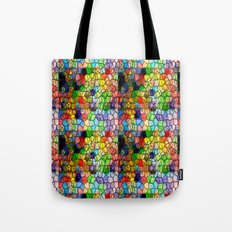 Stained Glass Abstract Digital Art Tote Bag
