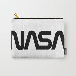 """NASA Black """"Worm"""" Logo Carry-All Pouch"""