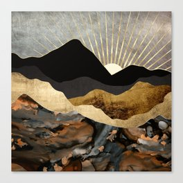Copper and Gold Mountains Canvas Print