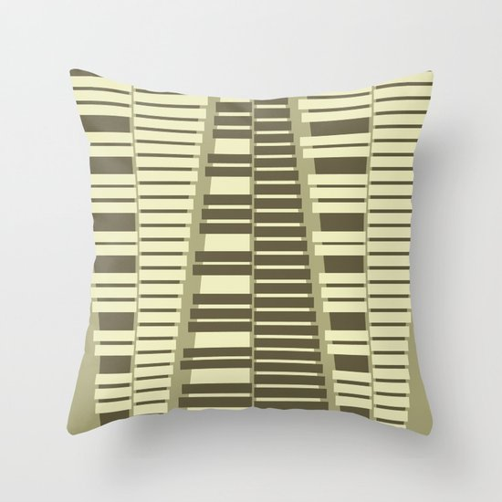Instrumental series I - xylophone - ANALOG zine Throw Pillow
